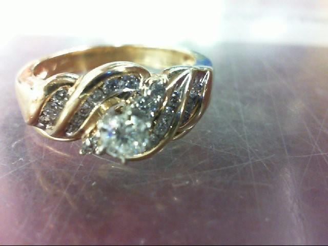 Lady's Diamond Wedding Set 23 Diamonds .71 Carat T.W. 14K Yellow Gold 8.7g