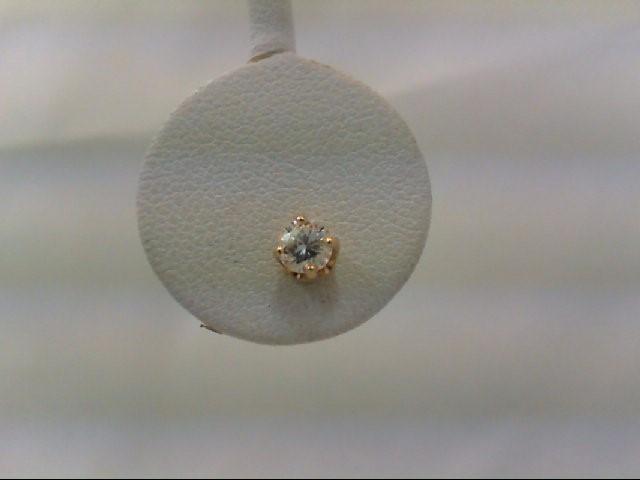 Gold-Diamond Earrings 2 Diamonds .50 Carat T.W. 14K Yellow Gold 0.9g