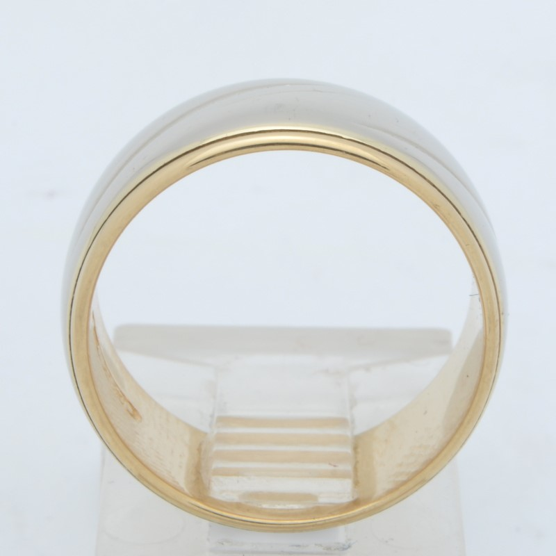 ESTATE SOLID REAL 14K GOLD RING BAND WEDDING THICK 8MM WIDE SIZE 6