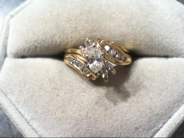 Lady's Diamond Wedding Set 13 Diamonds .62 Carat T.W. 14K Yellow Gold 4.2g