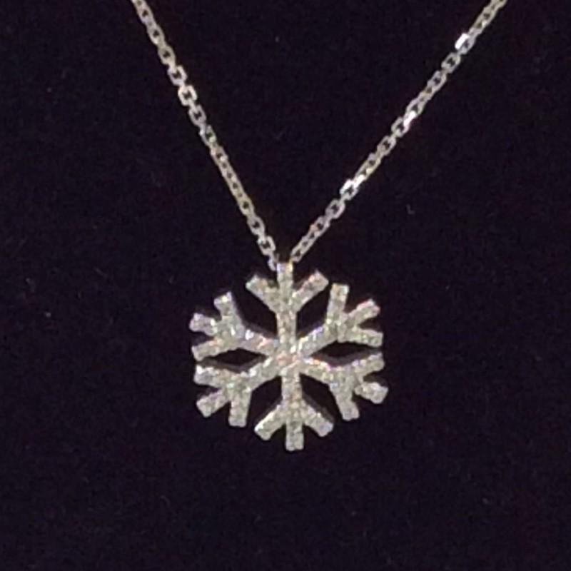 "16"" Diamond Necklace 55 Diamonds .55 Carat T.W. 14K White Gold 1.9dwt"