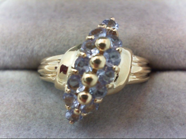 Tanzanite Lady's Stone Ring 14K Yellow Gold 3.3g