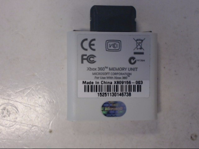 MICROSOFT Video Game Accessory XBOX 360 256MB MEMORY CARD