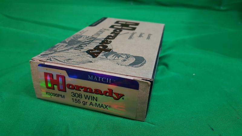 HORNADY Ammunition 308 WIN 155GR A-MAX