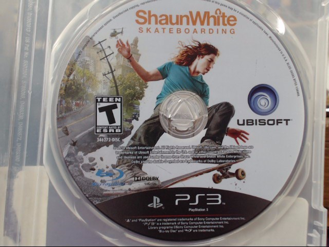 Shaun White Skateboarding (Sony Playstation 3, 2010) Disc ONLY!!!