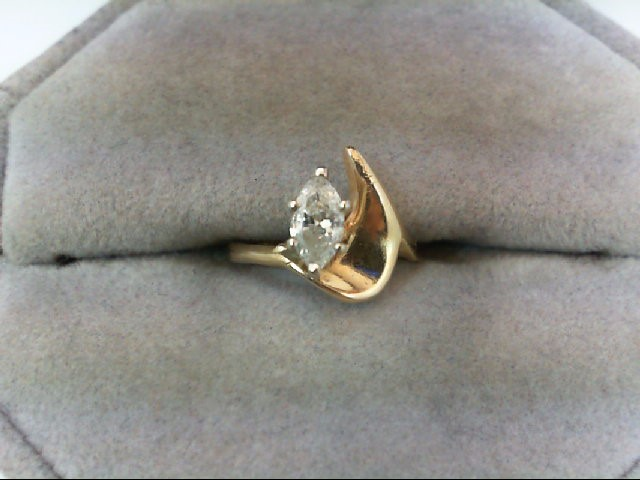 Lady's Diamond Solitaire Ring .35 CT. 14K Yellow Gold 1.3g