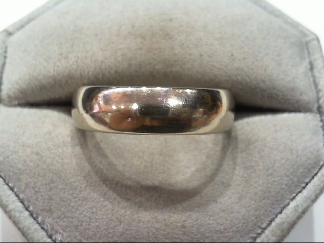 Gent's WED BAND 14K White Gold 9.5g Size:10.5