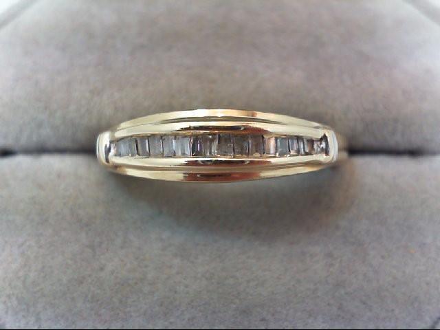 Lady's Diamond Wedding Band 17 Diamonds .34 Carat T.W. 10K Yellow Gold 2.7g
