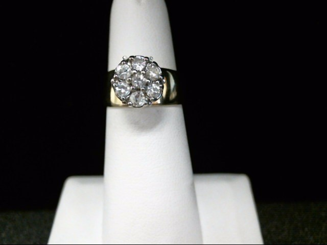 Lady's Diamond Cluster Ring 7 Diamonds .42 Carat T.W. 14K Yellow Gold 6.2g