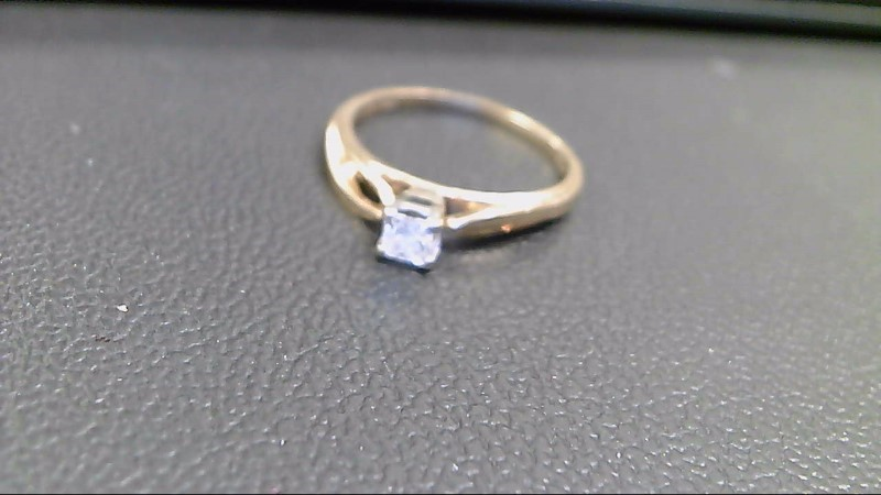 Lady's Diamond Solitaire Ring .30 CT. 14K Yellow Gold 2.6g