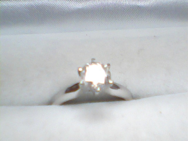 Lady's Diamond Solitaire Ring .75 CT. 14K White Gold 2.2dwt