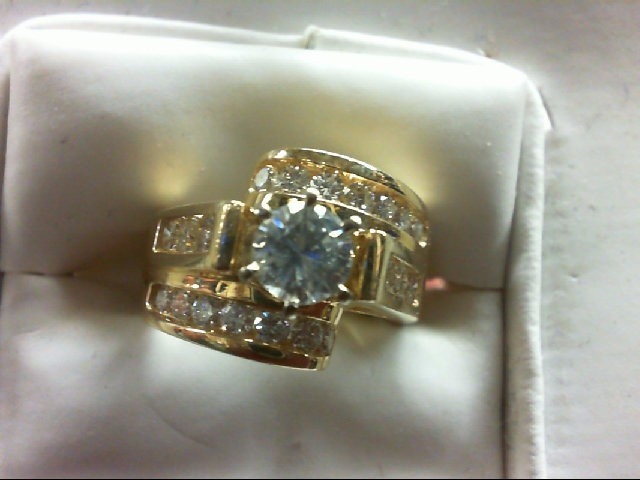 Lady's Gold-Diamond Anniversary Ring 21 Diamonds 1.70 Carat T.W.