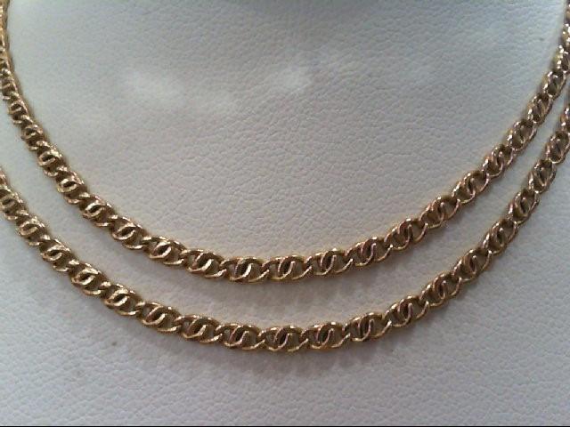 "18"" Gold Fashion Chain 14K Yellow Gold 3.3g"