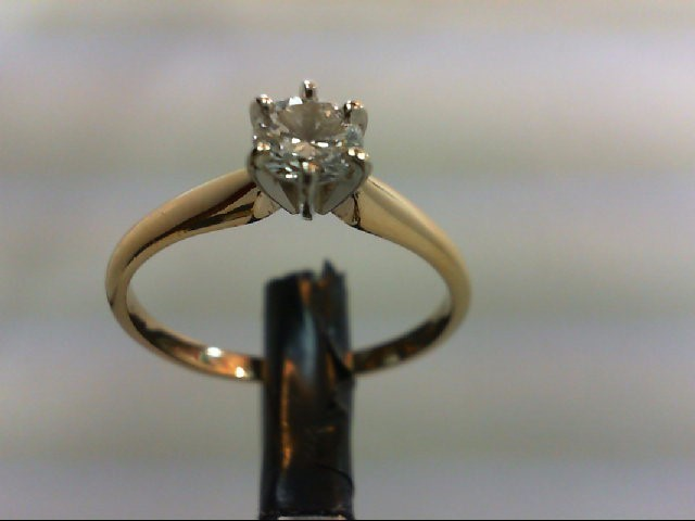 Lady's Diamond Solitaire Ring 0.5 CT. 14K Yellow Gold 2.7g