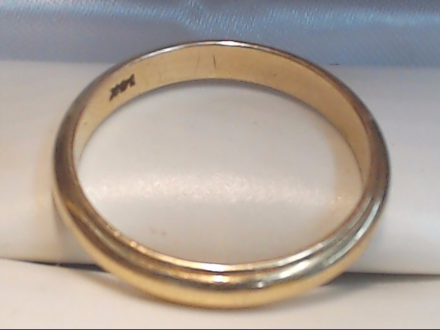 Lady's Gold Wedding Band 14K Yellow Gold 3.4g Size:8.8