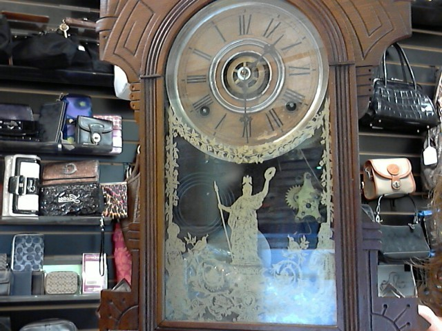 Vintage Mini Grandfathers Clock 1940's Circa Wood Chimmer