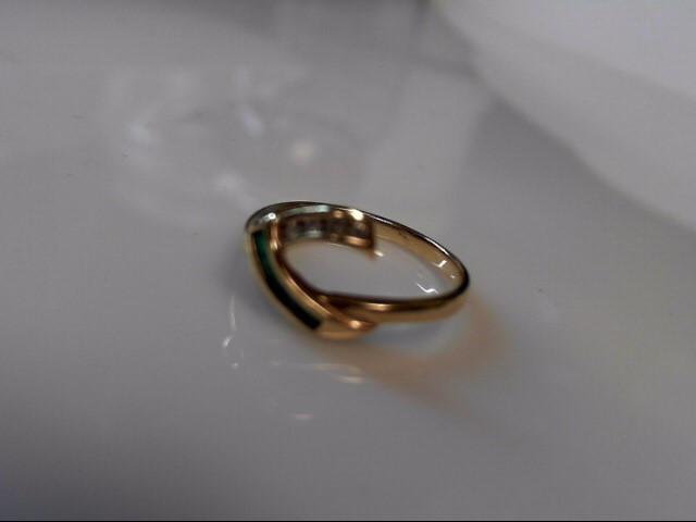 Diamond Emerald 14K Yellow Gold 2.2g Ring Guard