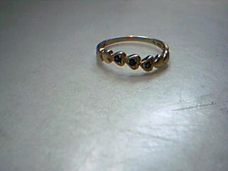 Synthetic Sapphire Gold-Stone Scrap 14K Yellow Gold 1.4g