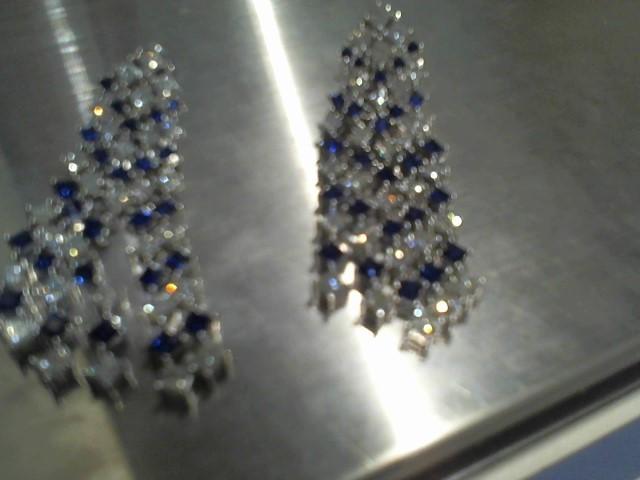 Gold Earrings 14K White Gold 30.4g