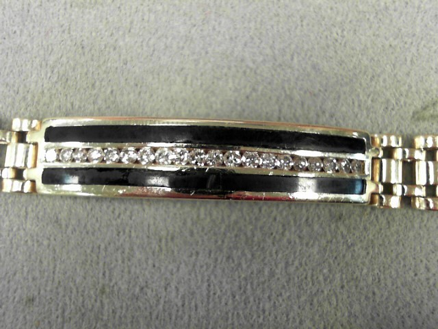 Gold-Diamond Bracelet 20 Diamonds .60 Carat T.W. 14K Yellow Gold 36.2g