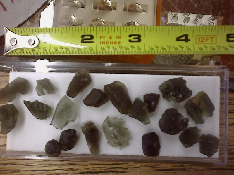 MOLDAVITE FROM CZECH REPUBLIC ASSORTED SHAPES AND SIZES