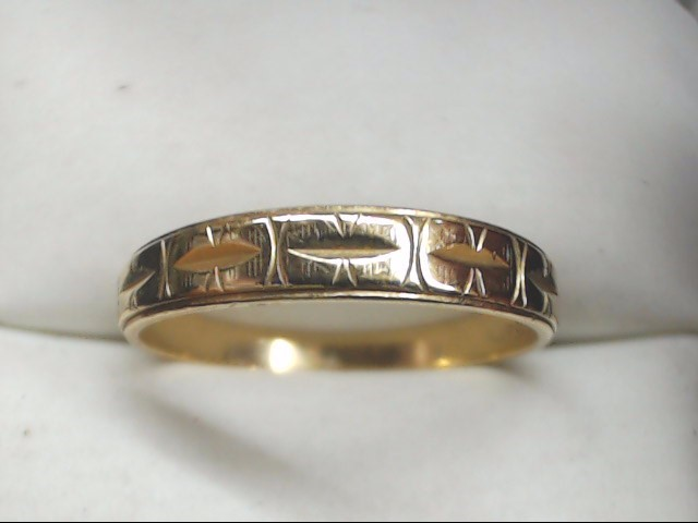 Lady's Gold Wedding Band 14K Yellow Gold 2.4g Size:9.5