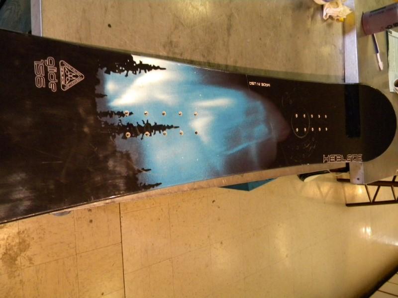 HEELSIDE Snowboard GLIDE 156