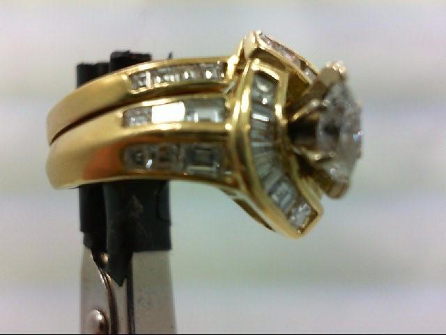 Lady's Diamond Wedding Set 38 Diamonds 1.43 Carat T.W. 18K Yellow Gold 8.2g
