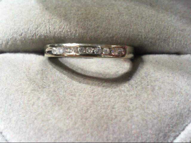 Lady's Diamond Wedding Band 9 Diamonds .09 Carat T.W. 10K White Gold 1.6g