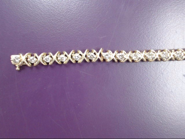 Gold-Diamond Bracelet 28 Diamonds 4.76 Carat T.W. 14K Yellow Gold 16g