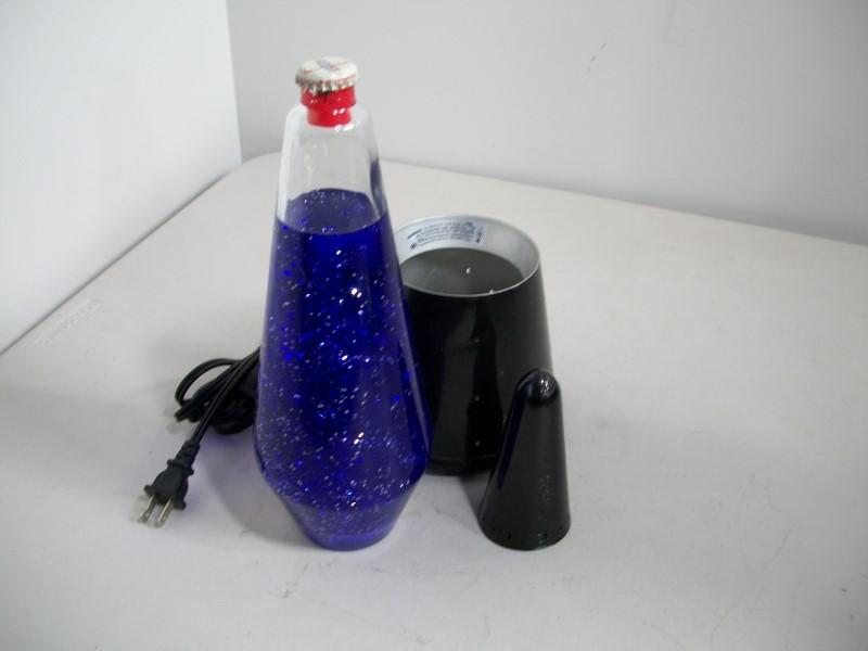 PURPLE GLITTER LAMP/LAVA