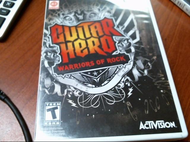 NINTENDO WII: GUITAR HERO WARRIORS OF ROCK