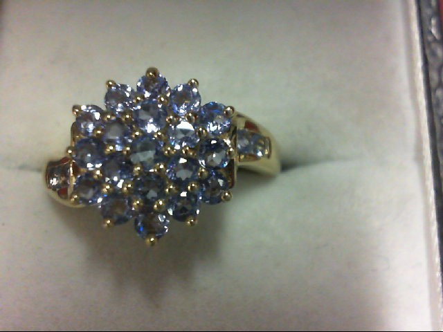Tanzanite Lady's Stone Ring 14K Yellow Gold 3.1g