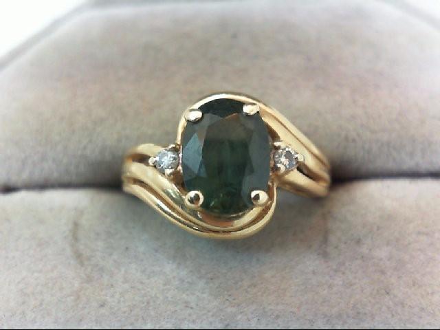 Lady's Diamond Fashion Ring 2 Diamonds .04 Carat T.W. 14K Yellow Gold 3.2g
