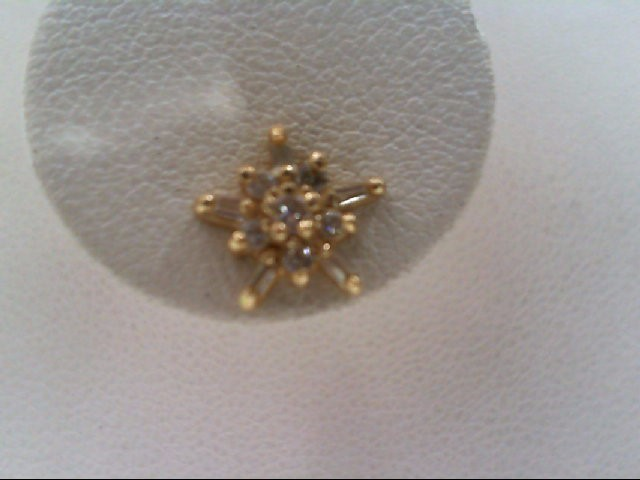 Gold-Diamond Earrings 22 Diamonds .24 Carat T.W. 14K Yellow Gold 1.3g