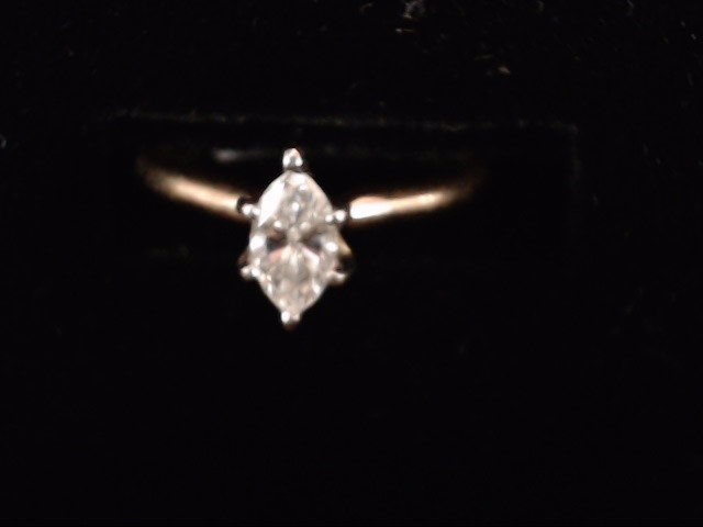 Lady's Diamond Solitaire Ring .40 CT. 14K Yellow Gold 2g