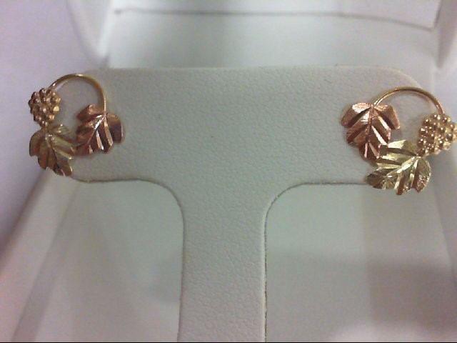 Gold Earrings 10K Tri-color Gold 0.9g