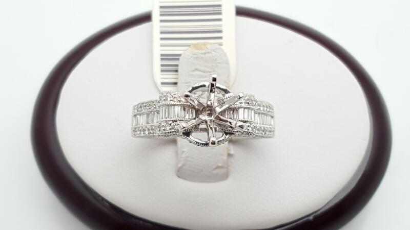 Lady's Diamond Engagement Ring 85 Diamonds .85 Carat T.W. 14K White Gold 6.2g