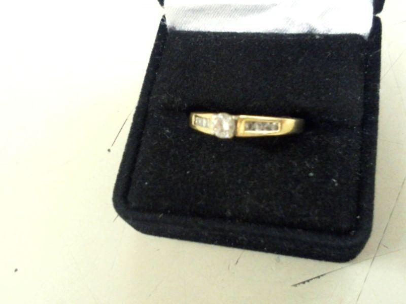 Lady's Diamond Engagement Ring 9 Diamonds .36 Carat T.W. 14K Yellow Gold 4.1g