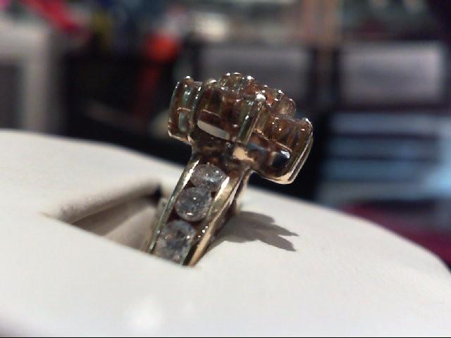 Lady's Diamond Cluster Ring 20 Diamonds 1.12 Carat T.W. 14K Yellow Gold 3.8g