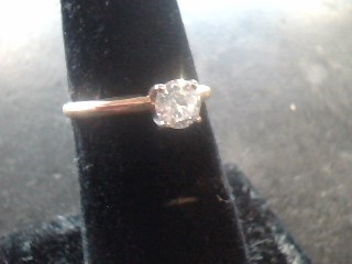 Lady's Diamond Solitaire Ring .50 CT. 14K Yellow Gold 1.4dwt Size:6