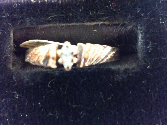 Lady's Diamond Engagement Ring .04 CT. 14K Yellow Gold 1.7g