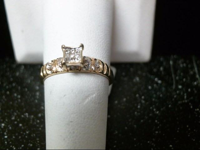 Lady's Diamond Engagement Ring 13 Diamonds .085 Carat T.W. 14K Yellow Gold 2.3g