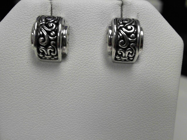 John Hardy Sterling Silver Earrings 6.4g