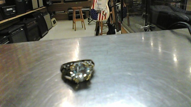 Synthetic Cubic Zirconia Lady's Silver & Stone Ring 050 Silver 5.4g