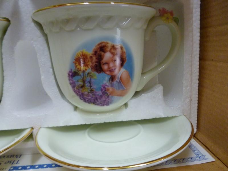 DANBURY MINT SHIRLEY TEMPLE 4PC TEA CUP SET