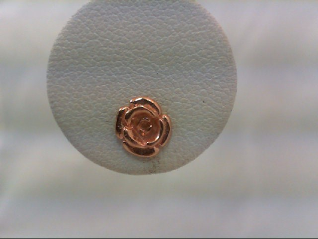 Gold Earrings 10K Rose Gold 0.8g