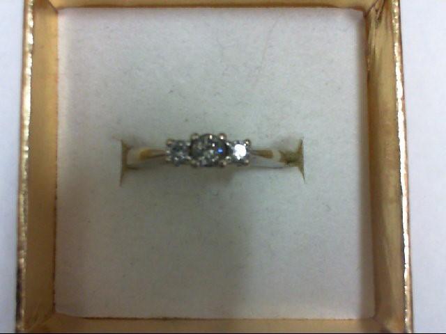 Lady's Diamond Wedding Band 3 Diamonds 0.25 Carat T.W. 14K White Gold 3g Size:7