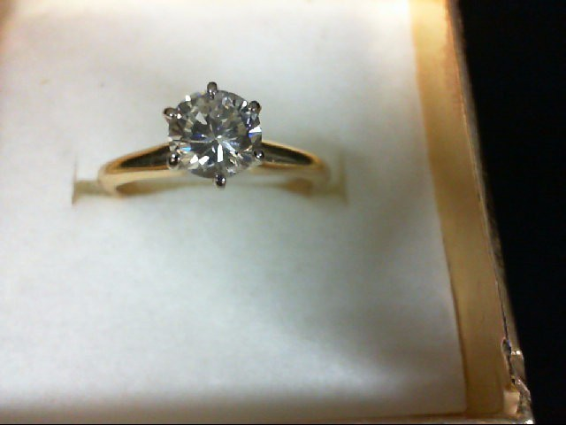 Lady's Diamond Engagement Ring .60 CT. 14K Yellow Gold 1.7g