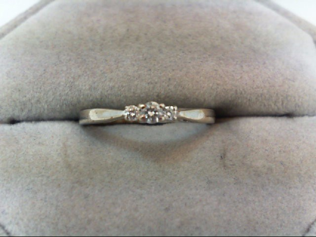 Lady's Diamond Wedding Band 3 Diamonds .10 Carat T.W. 14K White Gold 1.5g